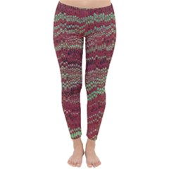 Scaly Pattern Colour Green Pink Classic Winter Leggings