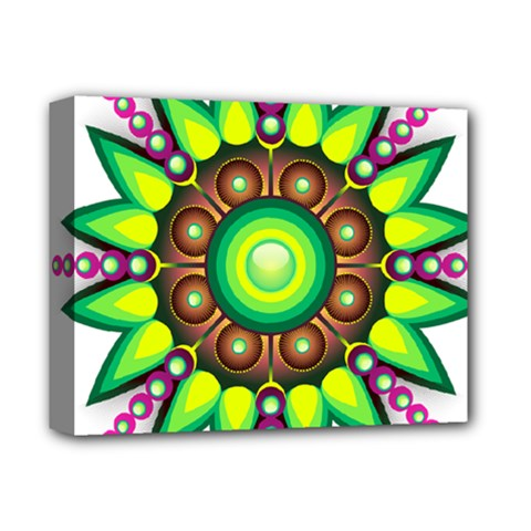 Design Elements Star Flower Floral Circle Deluxe Canvas 14  X 11  by Alisyart