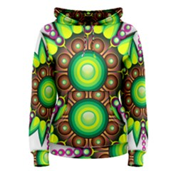 Design Elements Star Flower Floral Circle Women s Pullover Hoodie