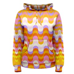 Dna Early Childhood Wave Chevron Rainbow Color Women s Pullover Hoodie