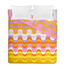 Dna Early Childhood Wave Chevron Rainbow Color Duvet Cover Double Side (full/ Double Size) by Alisyart