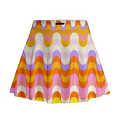 Dna Early Childhood Wave Chevron Rainbow Color Mini Flare Skirt by Alisyart