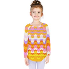 Dna Early Childhood Wave Chevron Rainbow Color Kids  Long Sleeve Tee