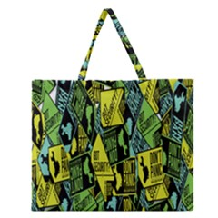 Don t Panic Digital Security Helpline Access Zipper Large Tote Bag by Alisyart