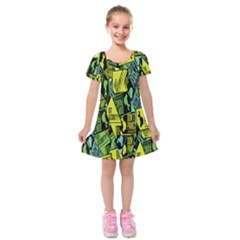 Don t Panic Digital Security Helpline Access Kids  Short Sleeve Velvet Dress by Alisyart