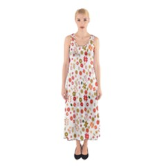 Floral Pattern Sleeveless Maxi Dress by Valentinaart
