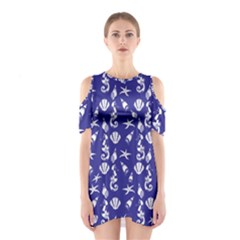 Seahorse Pattern Shoulder Cutout One Piece