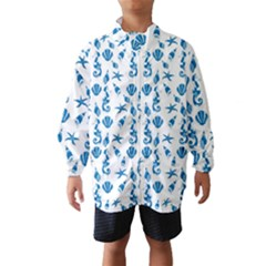 Seahorse Pattern Wind Breaker (kids) by Valentinaart