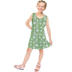 Seahorse Pattern Kids  Tunic Dress by Valentinaart