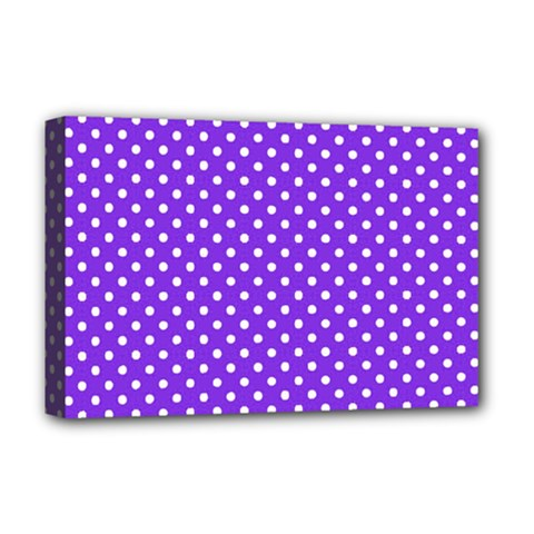 Polka Dots Deluxe Canvas 18  X 12   by Valentinaart