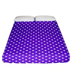 Polka Dots Fitted Sheet (california King Size) by Valentinaart