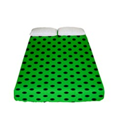 Polka Dots Fitted Sheet (full/ Double Size) by Valentinaart