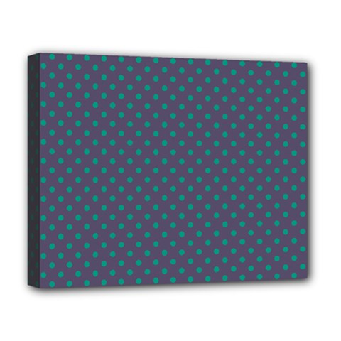 Polka Dots Deluxe Canvas 20  X 16   by Valentinaart