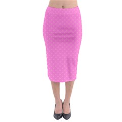 Polka Dots Midi Pencil Skirt