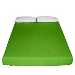 Polka Dots Fitted Sheet (king Size)