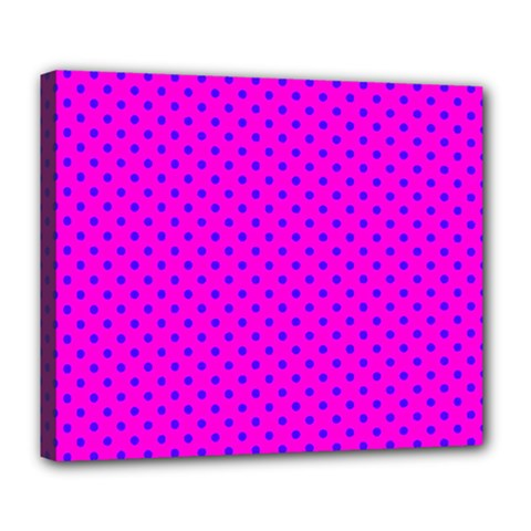Polka Dots Deluxe Canvas 24  X 20