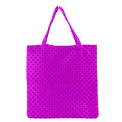 Polka Dots Grocery Tote Bag by Valentinaart