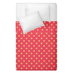 Polka Dots Duvet Cover Double Side (single Size) by Valentinaart