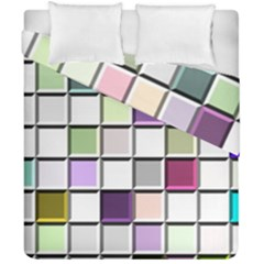 Color Tiles Abstract Mosaic Background Duvet Cover Double Side (california King Size) by Simbadda