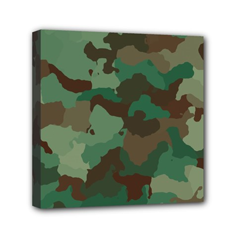 Camouflage Pattern A Completely Seamless Tile Able Background Design Mini Canvas 6  X 6  by Simbadda