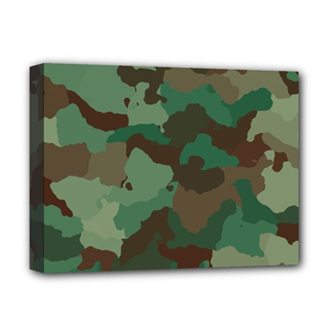 Camouflage Pattern A Completely Seamless Tile Able Background Design Deluxe Canvas 16  X 12   by Simbadda
