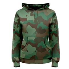 Camouflage Pattern A Completely Seamless Tile Able Background Design Women s Pullover Hoodie