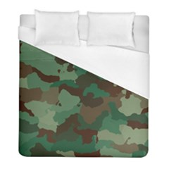 Camouflage Pattern A Completely Seamless Tile Able Background Design Duvet Cover (full/ Double Size) by Simbadda