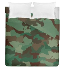 Camouflage Pattern A Completely Seamless Tile Able Background Design Duvet Cover Double Side (queen Size)