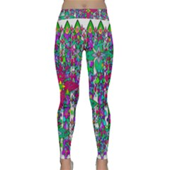 Sunny Roses In Rainy Weather Pop Art Classic Yoga Leggings by pepitasart