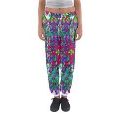 Sunny Roses In Rainy Weather Pop Art Women s Jogger Sweatpants by pepitasart