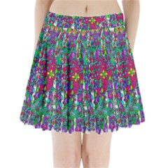 Sunny Roses In Rainy Weather Pop Art Pleated Mini Skirt by pepitasart