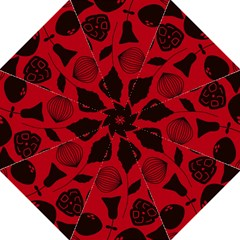 Congregation Of Floral Shades Pattern Hook Handle Umbrellas (medium) by Simbadda