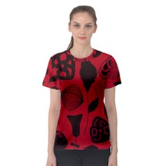 Congregation Of Floral Shades Pattern Women s Sport Mesh Tee by Simbadda