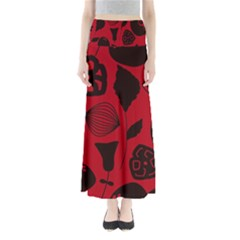 Congregation Of Floral Shades Pattern Maxi Skirts