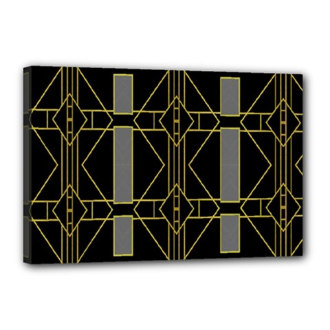Simple Art Deco Style  Canvas 18  X 12  by Simbadda