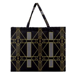 Simple Art Deco Style  Zipper Large Tote Bag