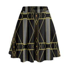 Simple Art Deco Style  High Waist Skirt by Simbadda