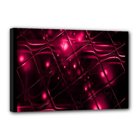 Picture Of Love In Magenta Declaration Of Love Canvas 18  X 12  by Simbadda