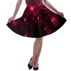 Picture Of Love In Magenta Declaration Of Love A-line Skater Skirt by Simbadda