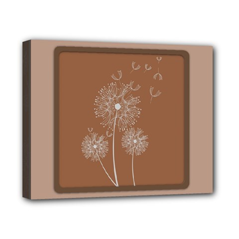 Dandelion Frame Card Template For Scrapbooking Canvas 10  X 8  by Simbadda