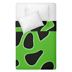 Black Green Abstract Shapes A Completely Seamless Tile Able Background Duvet Cover Double Side (single Size) by Simbadda