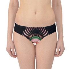 Fractal Plate Like Image In Pink Green And Other Colours Hipster Bikini Bottoms by Simbadda