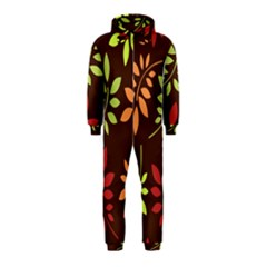Leaves Wallpaper Pattern Seamless Autumn Colors Leaf Background Hooded Jumpsuit (kids)