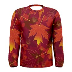 Autumn Leaves Fall Maple Men s Long Sleeve Tee by Simbadda