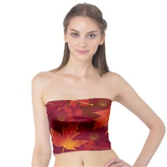Autumn Leaves Fall Maple Tube Top by Simbadda