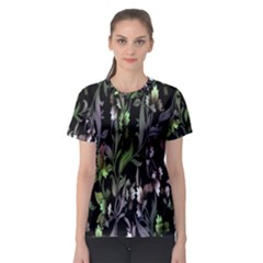 Floral Pattern Background Women s Sport Mesh Tee by Simbadda