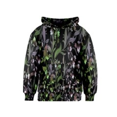 Floral Pattern Background Kids  Pullover Hoodie by Simbadda