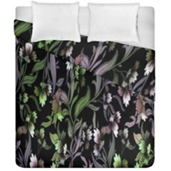 Floral Pattern Background Duvet Cover Double Side (california King Size) by Simbadda