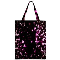 Background Structure Magenta Brown Zipper Classic Tote Bag