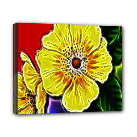 Beautiful Fractal Flower In 3d Glass Frame Canvas 10  X 8  by Simbadda